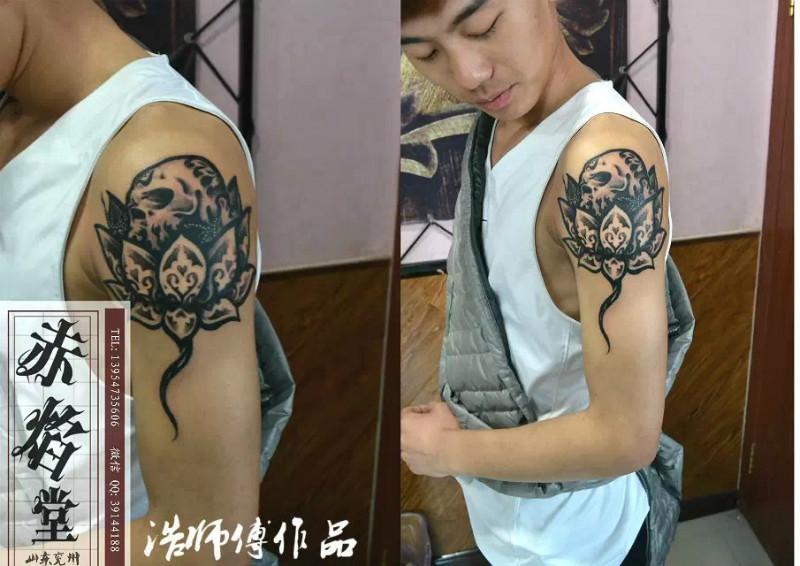 莲花纹身佛类纹身图案图片