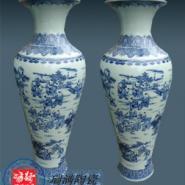 定制手绘高档2米陶瓷大花瓶价格图片
