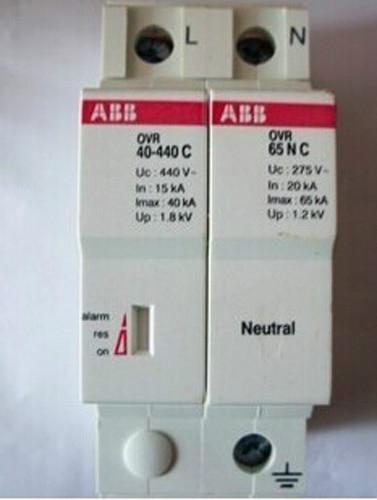 供应ABB浪涌保护器20KA 电源防雷器 浪涌防雷器OVR-20/3P+N 质保三年