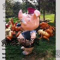 供应玻璃钢雕塑卡通野猪
