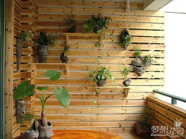 防腐木阳台护墙板图片