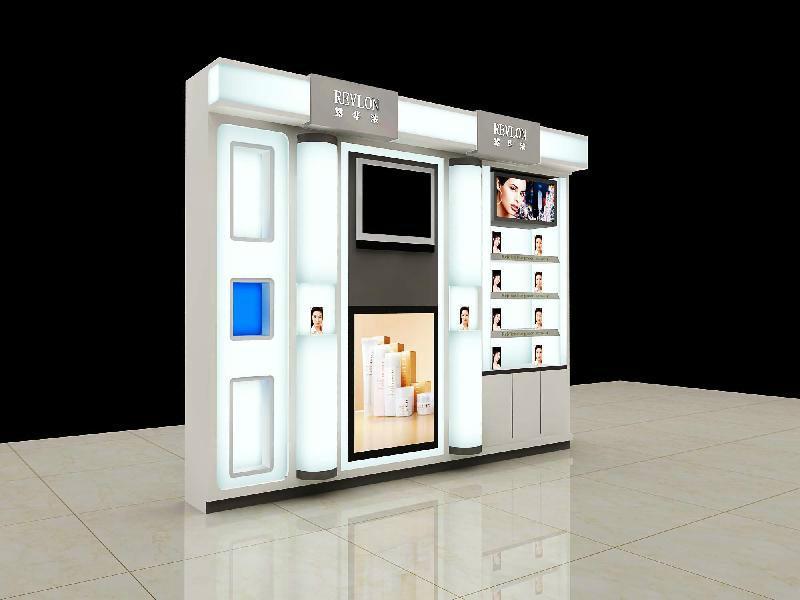 供应扬州化妆品柜展柜设计加工图片
