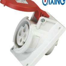 供应启星科技QX1467暗装斜座4芯16A工业插座防水插座厂家直销批发