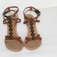 全新专柜正品LV坡跟露趾女式凉鞋