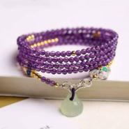 重庆天然紫水晶手链图片
