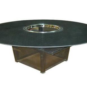 玻璃火锅铁架餐桌图片