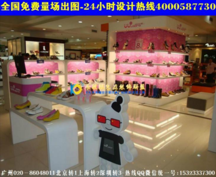 浙江20平鞋店鞋子摆放图欧式个性鞋店装修图高清图片