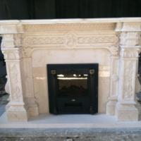 供应白金世纪米黄大理石别墅壁炉架