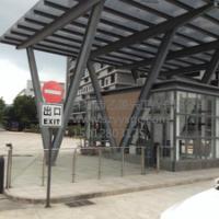 深圳钢结构玻璃雨棚/制作安装雨棚