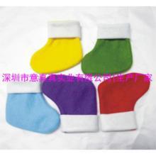 供应彩色圣诞袜 各种颜色糖果圣诞袜 无纺布圣诞袜批发定做
