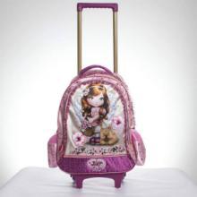 供应厦门幼儿园书包定制芭比紫色拉杆包厦门幼儿园书包定制芭比紫色拉杆包批发