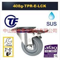 TF5寸欧美不锈钢TPR万向带刹车脚轮