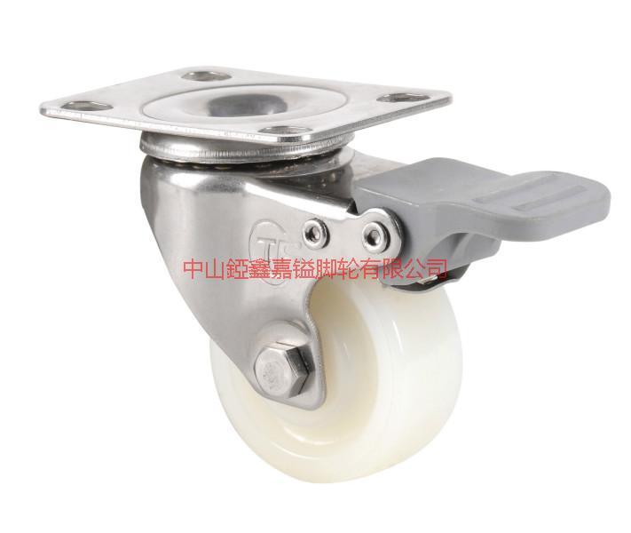 供应轻型平板不锈钢超静音TPR刹车脚轮-广州TPR轮价格-番禺TPR轮报价