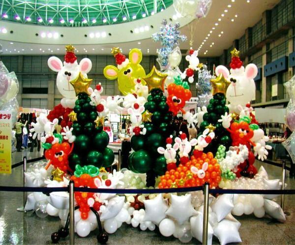 新乡商场六一儿童节气球装饰图片|新乡商场六一儿童
