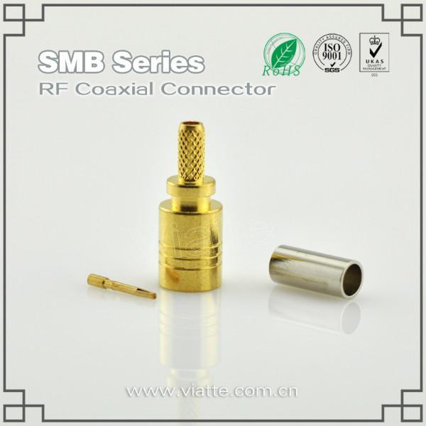 供应SMB母头母针直式铆压接RG316_RG174同轴电缆 SMA连接头 转接器