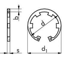 供应进口带齿孔用挡圈 ,DIN984