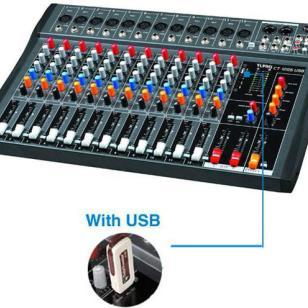 6路8路12路带USB专业调音台图片