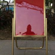 不锈钢折叠海报架立式指示牌广告牌图片