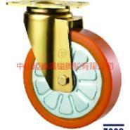 重型橙色钢芯聚氨脂PU轮图片