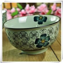 供应外贸陶瓷手绘釉下彩高温餐具批发