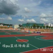 河北硅pu篮球场建设图片