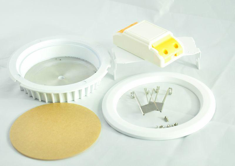 供应用于LED筒灯|筒灯套件价格|筒灯外壳厂家的优质LED筒灯套件4寸开孔120mm