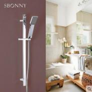 诗博尼淋浴花洒套装不锈钢升降杆图片