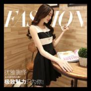 2015夏季韩版女装修身背心连衣裙图片