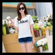 2015夏季韩版雪纺短袖T恤女图片