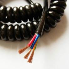 供应用于展示柜台电源|防警报器|电脑手机充电的大量生产3芯0.75平方pu弹簧线批发