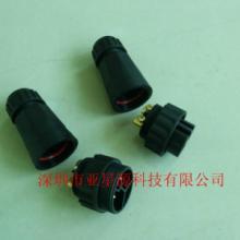 供应2芯M19拧螺丝接线防水插头IP68等级/LED显示屏套件/IP68路灯防水插头