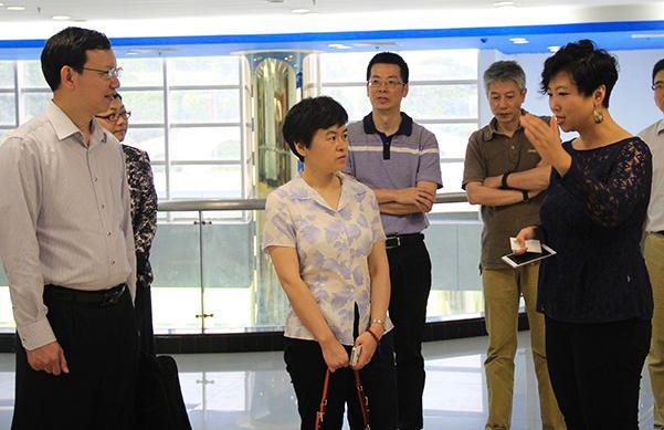 广州市知识产权局副局长丁力一行考察一呼百应