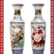 青花瓷大花瓶 龙纹陶瓷大花瓶定制图片