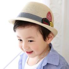 供应韩版儿童春夏帽子小孩韩版礼帽 户外儿童太阳帽子爵士帽儿童