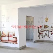 供应深圳龙岗样板房壁画彩绘,龙岗样板房艺术墙绘找墙中画公司.
