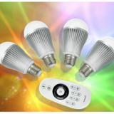 供应2.4G遥控球泡灯双控调光调色温案
