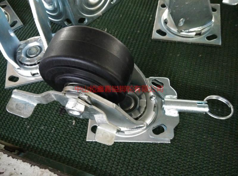供应4寸5寸6寸万向带定向刹车高温脚轮-6寸8寸耐高温尼龙轮-耐磨万向轮