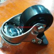 TF2寸不锈钢黑色尼龙丝杆刹车脚轮图片