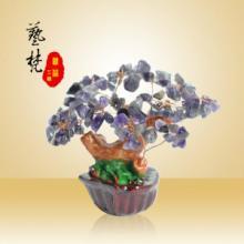 供应艺梵树脂工艺品迷你植物造型水晶树