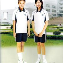 供应定做中学生短袖运动服运动套装定做