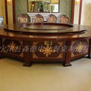 陕西酒店包厢电动转盘餐桌优质供应图片